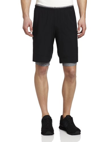 Reebok Reebok Men's 2-in-1 Shorts, Black, Large