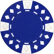 25 Clay Composite Diamond Suited 11.5 gram Poker Chips, Blue
