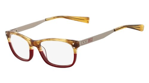 Nike Nike 7209 Eyeglasses (240) Blonde Horn/Red, 51mm