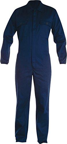 Tuta Da Lavoro Cotone Con Cerniera Centrale Tasche Pantaloni e Petto Payper, Colore: Navy, Taglia: 50