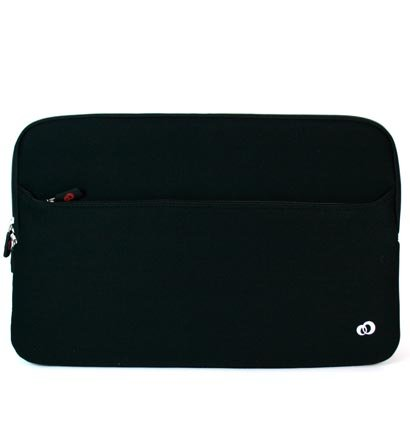Asus 15.6 inch Notebook Laptop U56E-BBL6 Black Neoprene and Black Zipper with large compartment pocket for accessories