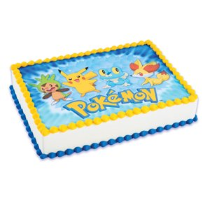Edible Cake Decorations Pokemon : Amazon.com: Pokemon Cake Icing Edible Image: Kitchen & Dining