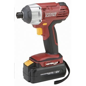 18 Volt Cordless 1/4 Hex Impact Driver with 18 Volt Battery and Quick Charger by Chicago Pneumatic (Chicago Electric Charger compare prices)