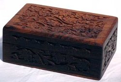 Floral Design Handcrafted Wooden Box