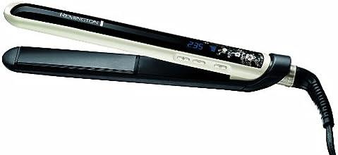 Remington S9500 Pearl - Plancha de pelo (hasta 235º, placas de 110mm, cerámica avanzada Ultimate)