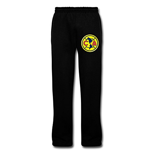 Men's Club Futbol America Logo Newest Sweatpants With Pockets 3X Black By Rahk (Club America Sweats compare prices)