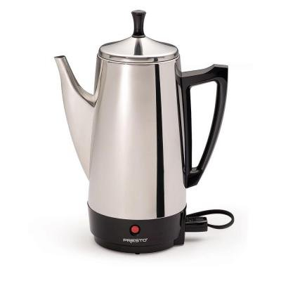 Presto 12-Cup Stainless Steel Percolator,(800Watts/120volts)