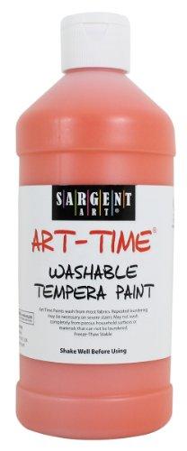 Sargent Art 22-3414 16-Ounce Art-Time Washable Paint, Orange