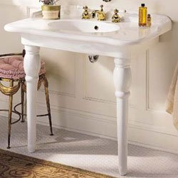 Cheap Porcher Sonnet Petite Console Sink 30018WH White
