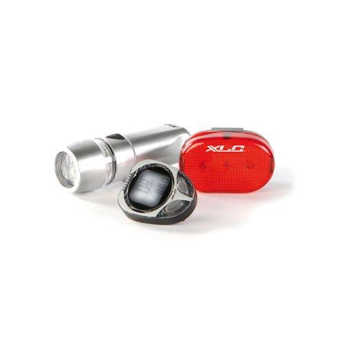 XLC Computer / Headlight / Taillight Set, Silver