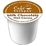 Cafe Escapes Milk Chocolate Hot Cocoa Keurig K-Cups, 16 Count
