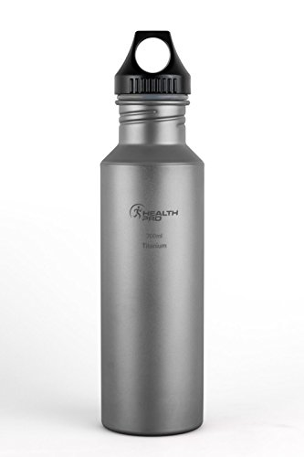 Healthpro Titanium Lightweight Super Strong BPA-Free Water Bottle (24-Ounce) (Water Bottle Boil compare prices)