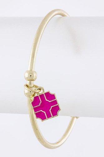 Contempo Couture Square Charm Cuff (Fuchsia)
