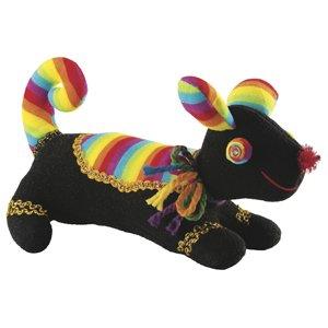 Laid Back Plush Dog, Black