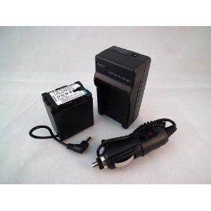JVCビクターBN-VG121/VG114/VG107対応互換バッテリー【丸型】・充電器セット