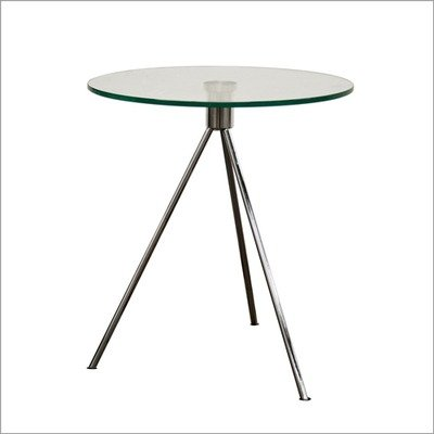 Cheap Baxton Studio Triplet End Table in Brushed Nickel (TTT-01)