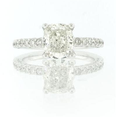 2.70ct Cushion Cut Diamond Engagement Anniversary