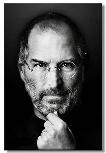 Bingirl Home Decor Silk Walk Decoration Poster Steve Paul Jobs 3 Sizes Motivational 12x18 inch - (30x45cm) (Steve Jobs Picture compare prices)