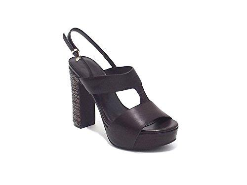 Luciano Barachini scarpa donna, modello sandalo 6045, in pelle, colore testa di moro