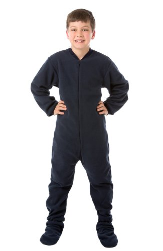 Big Feet Pjs Navy (502) Infant - Toddler Fleece Footed Pajamas 12M - 4T (2T) front-835623