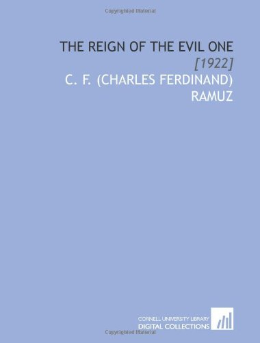 The Reign of the Evil One: [1922]