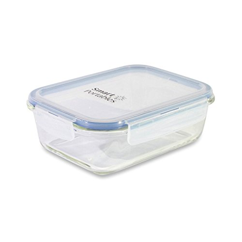 Smart Portables Premium Glass Meal Prep Container (35 oz.) - Microwave & Oven Safe - Leak Proof, Air Tight Food Storage - Tupperware with Snap Lock Lids (Oven Safe Glass Tupperware compare prices)