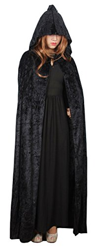 Catkit Adult Holloween Witch Vampire Grim Reaper Hooded Cloak Cosplay Costume