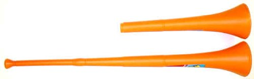 Vuvuzela Stadium Horn Collapsible Noise Maker - Orange - 1