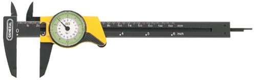 General Tools 142 6-Inch English and Metric Plastic Dial Caliper
