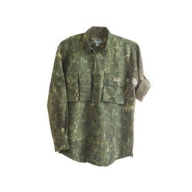 Aqua Design 50+ UPF UV Protection Technical Fly Fishing Shirt - Tournament Camouflage Flats Long Sleeve Shirt, Willow Green Color
