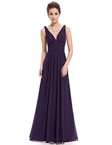 Ever Pretty Womens Floor Length Semi Formal Evening Dress 8 US Purple