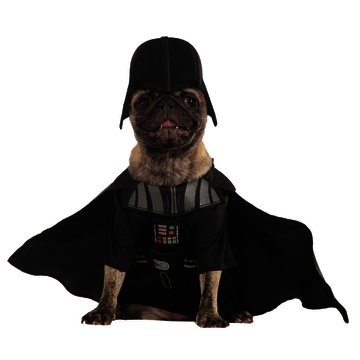 [Star Wars Black Darth Vader Dog Costume with Detachable Cape & Headpiece- Size Small] (Star Wars Halloween Costumes For Dogs)