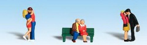 Woodland Scenics HO Scale Scenic Accents Figures/People Set Lovers - 3 Couples