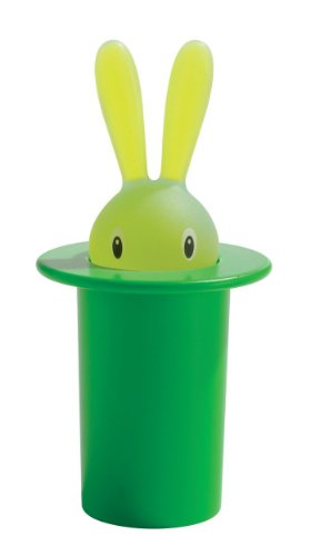 A di Alessi Magic Bunny Toothpick Holder, Green
