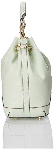 夏日清新色,Rebecca Minkoff Fiona Bucket 牛皮抽绳水桶包图片
