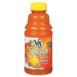V8 Splash Juice Drinks, 16Oz, 12/Pk, Tropical Blend