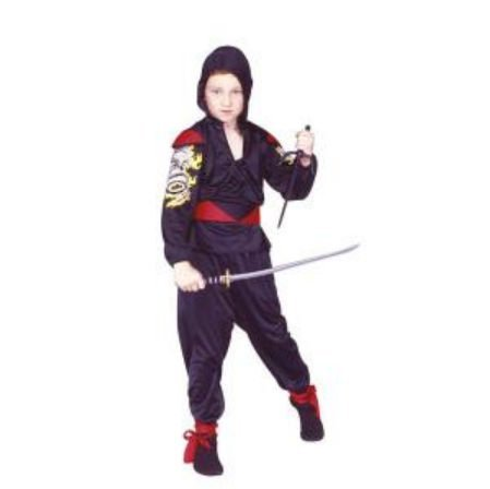 Ninja Dragon Mast - Red, Child Large Costume