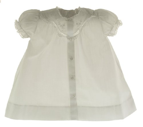 Feltman Brothers Girls White Daygown With Lace-Newborn front-783223