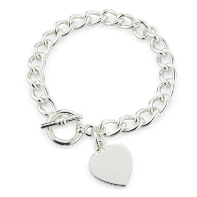 Heart Tiffany Style Bracelet, Heart Pendant on