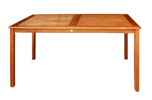 LuuNguyen - Outdoor Hardwood Dining Table (Natural Wood Finish)