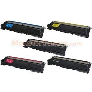 Brother TN210BK, TN210C, TN210M, TN210Y Remanufactured Color Toner Cartridge, 5-Pack