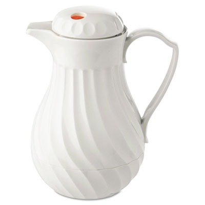 NEW - Poly Lined Carafe, Swirl Design, 40 oz. Capacity, White - 4022