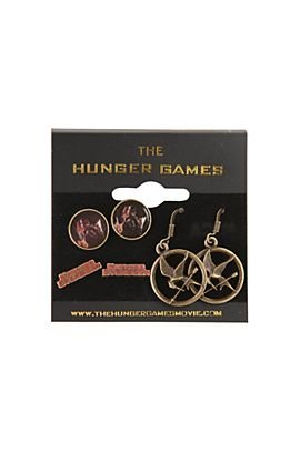 The Hunger Games Earrings Katniss Everdeen Mockingjay 3 Pair Earring Set