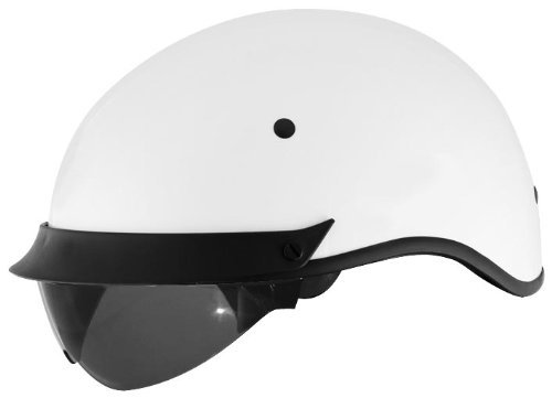 Cyber Helmets U-72 Solid Helmet , Helmet Type: Half Helmets, Helmet Category: Street, Distinct Name: White, Primary Color: White, Size: XL, Gender: Mens/Unisex 640864