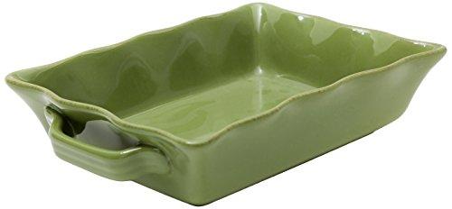 Prima Design Classic Rectangular Baker, 12 by 7.5-Inch, Green