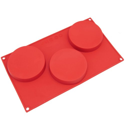 Freshware 3-Cavity Disc Cake Silicone Mold And Baking Pan front-70299