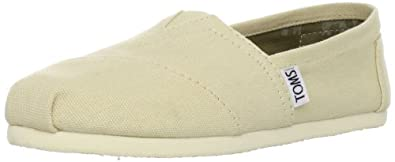 TOMS Women's Canvas Slip-On,Light Beige,5 M