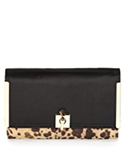 M&S Collection Leopard Print Clutch Bag