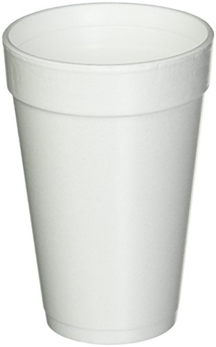 16 Oz. White Disposable Drink Foam Cups Hot and Cold Coffee Cup (Pack of 40)