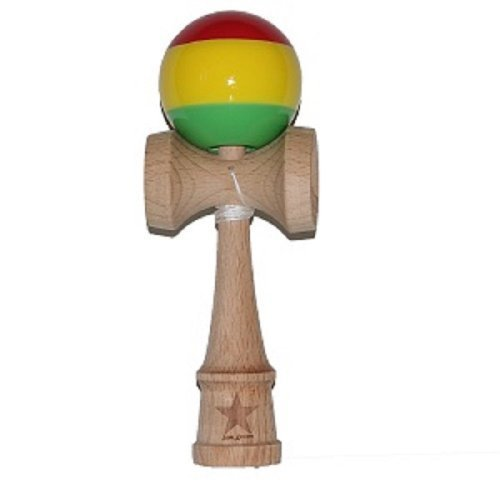 Jumbo Rasta Super Kendama, Super Sticky, Japanese Wooden Toy, Free String, USA Seller